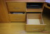 Printer tray and file drawers for a fitted home office