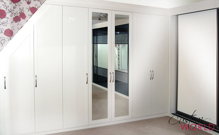 Fitted furniture built in to sloping and angled ceilings for Fitted bedroom furniture 0 finance