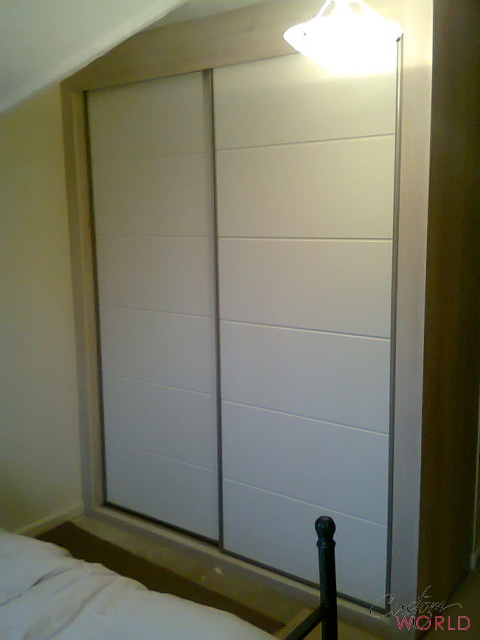 White bowland horizontal sliding doors
