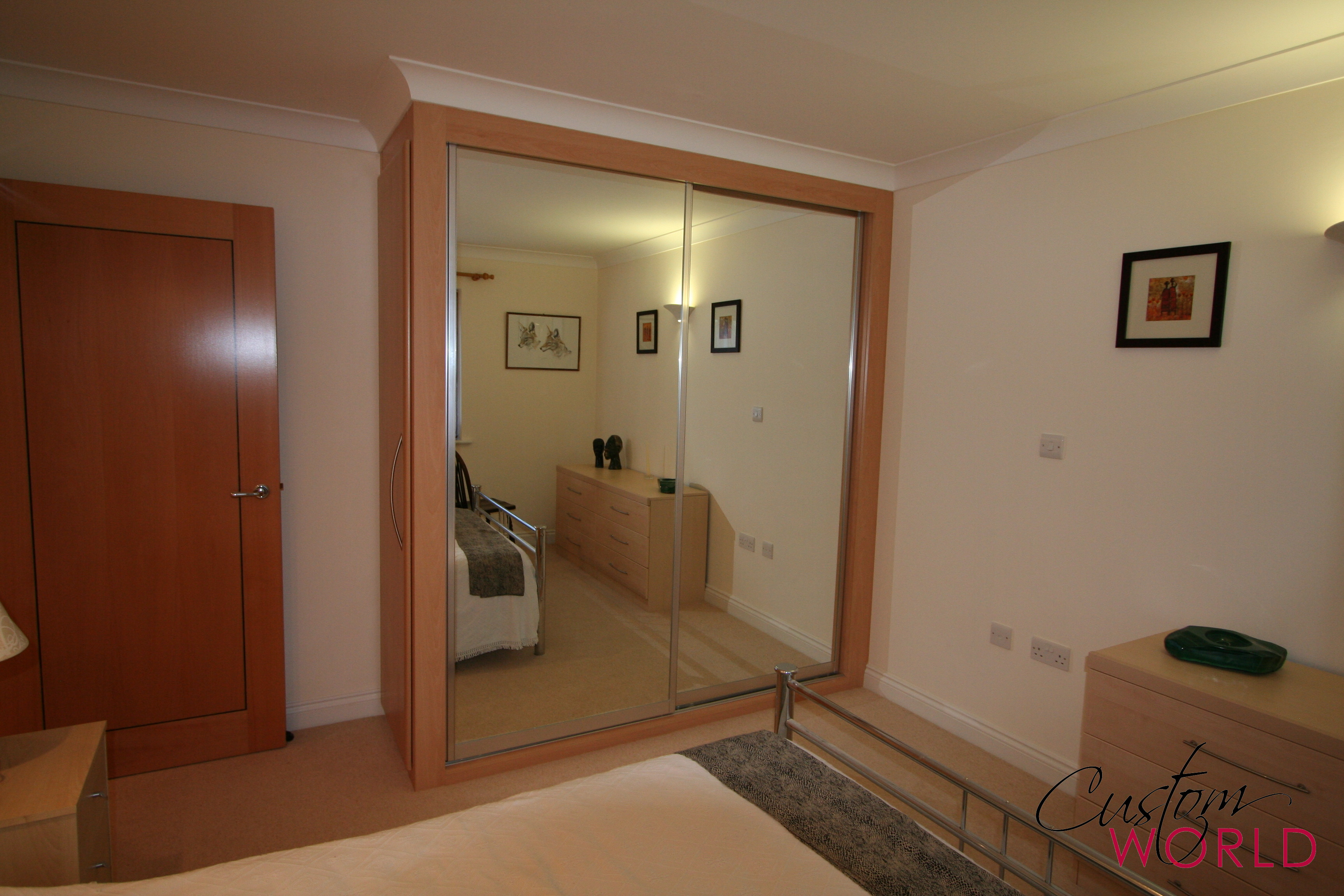 2 door mirror sliding wardrobe