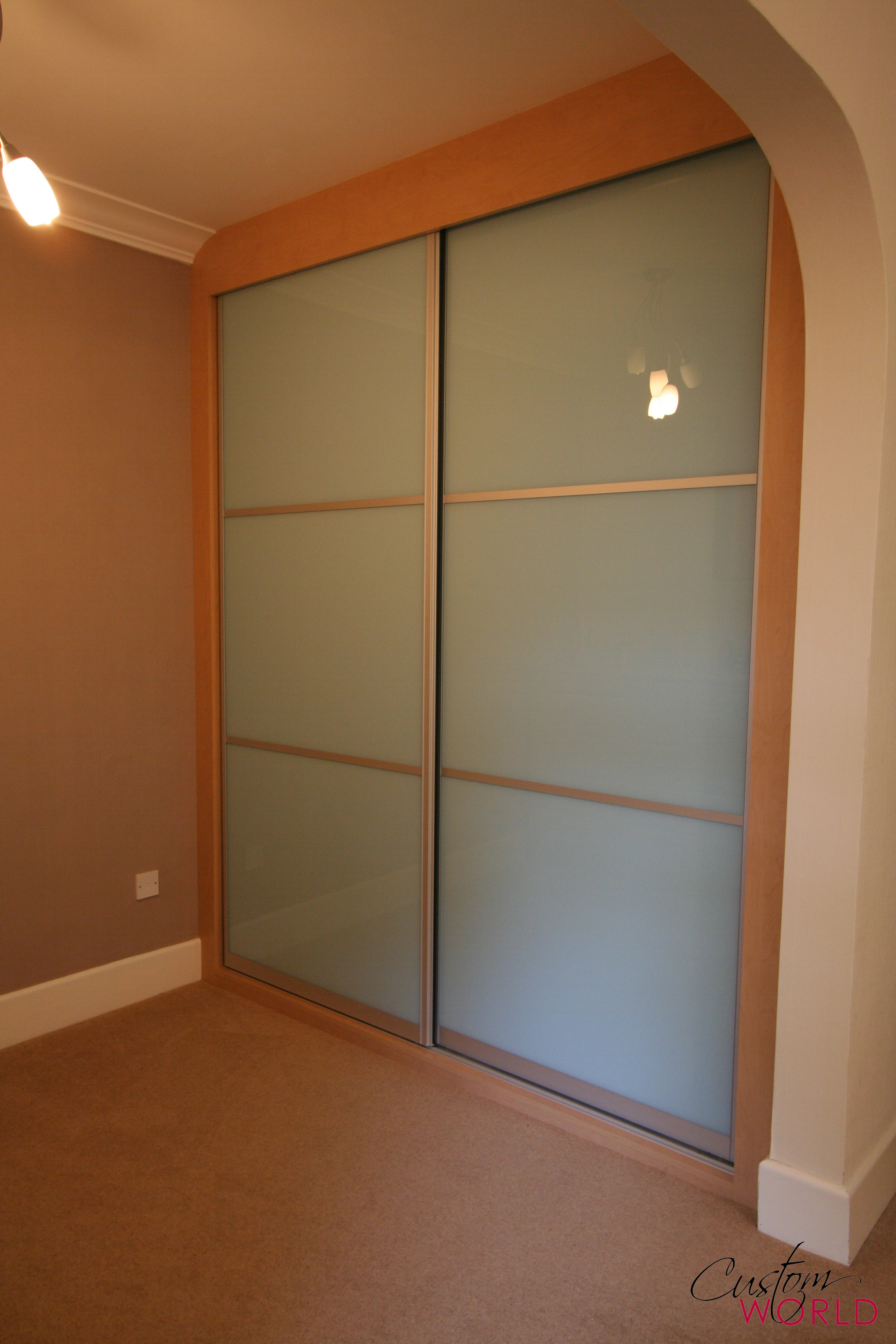2 door sliding wardrobe with split panels
