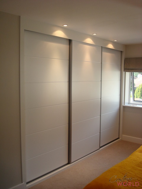3 door sliding wardrobe Bowland Horizontal panels