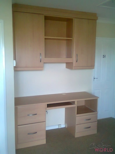 Desk with cupboards