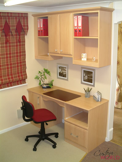 Desk with shelf unit
