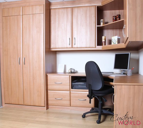 Home office with cupboards