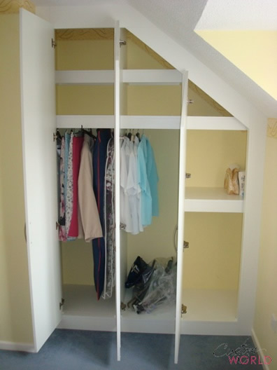 White interior wardrobe