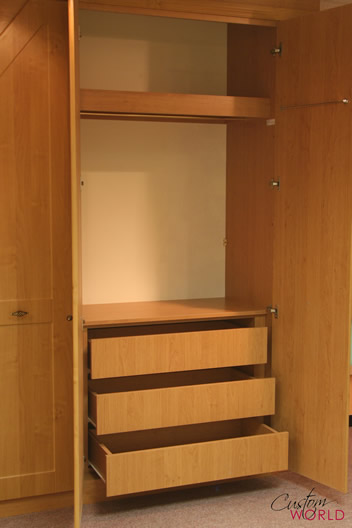 Internal storage and drawers