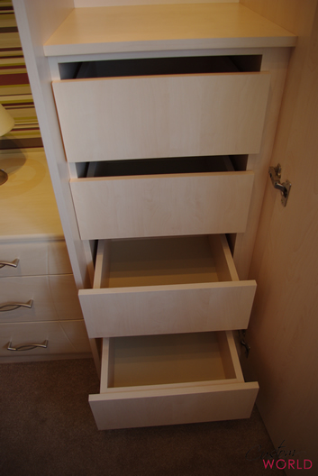 Interior storage space