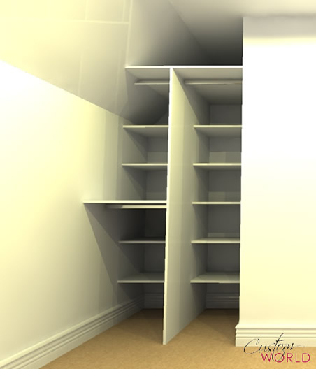 Shelves built in to internal space