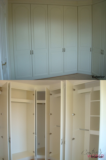 Wardrobes showing interior and exterior