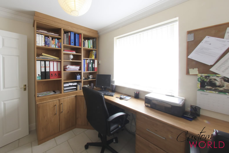 Fitted home office and desk
