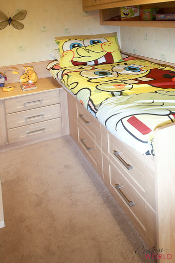 Cabin beds are suitable even for small bedrooms