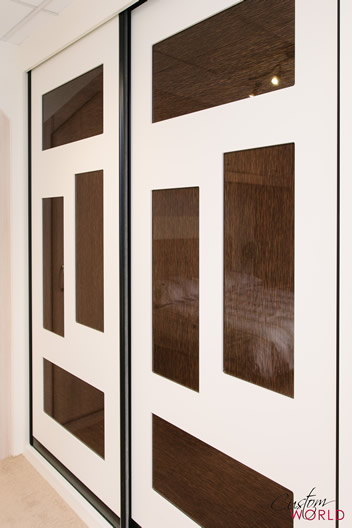 Doors with inset glass