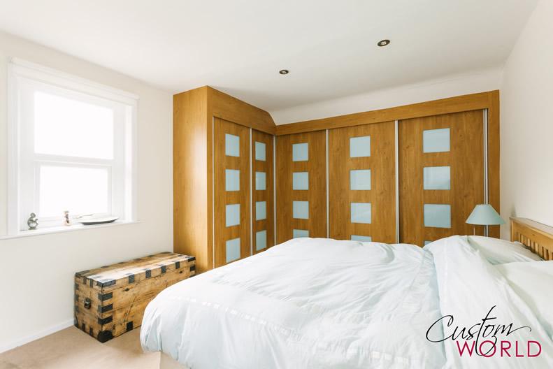 Inset glass in wood doors