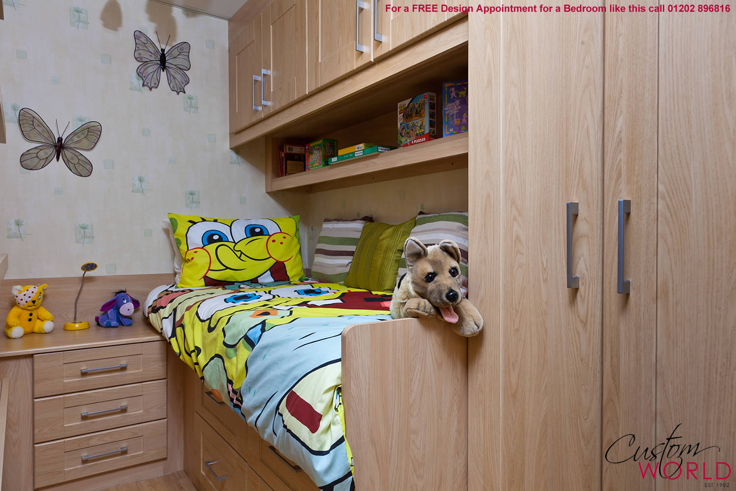 Fitted wardrobes hinged made to measure wardrobes - Childrens small bedroom furniture solutions ...