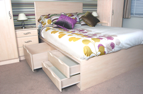 Bespoke fitted bed made to measure with you fitted wardrobes