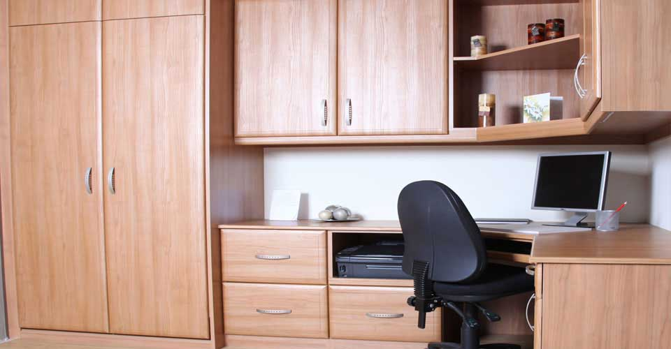 Made to measure fitted home office furniture