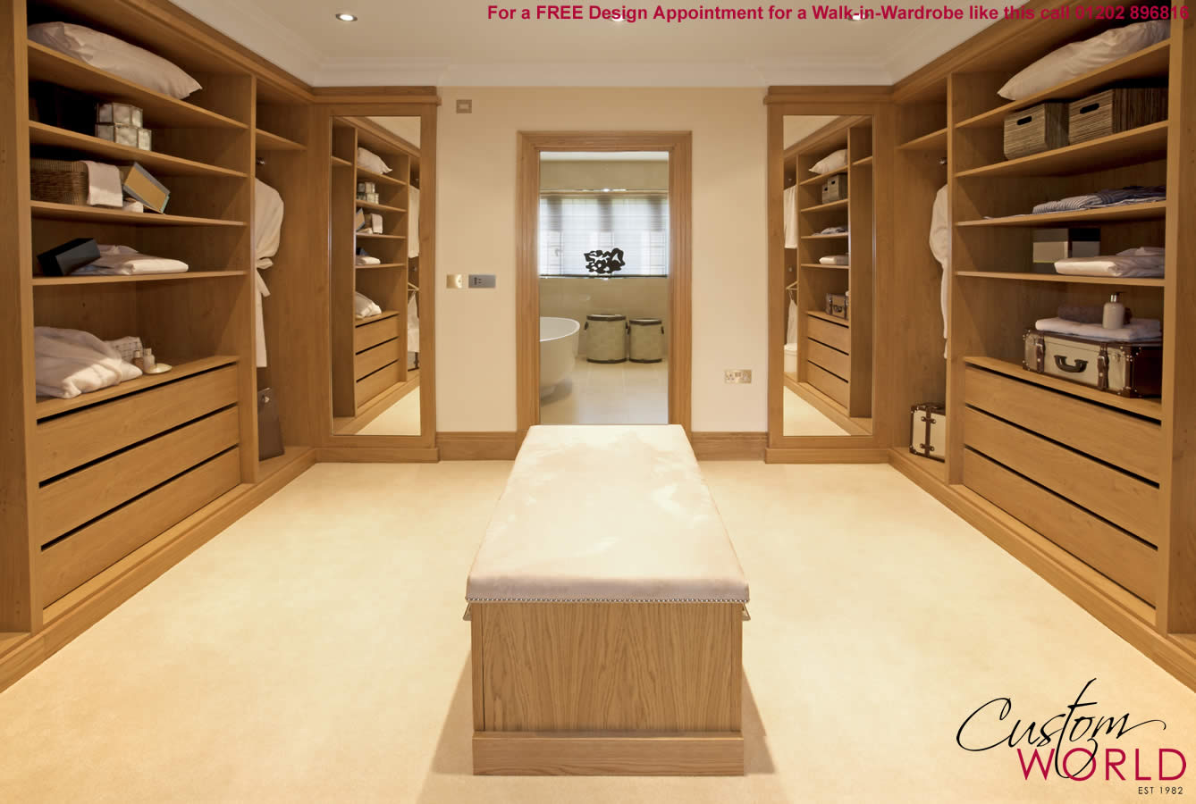 Built in walk in wardrobes bespoke walk in wardrobe designs for Bedroom built in wardrobe designs