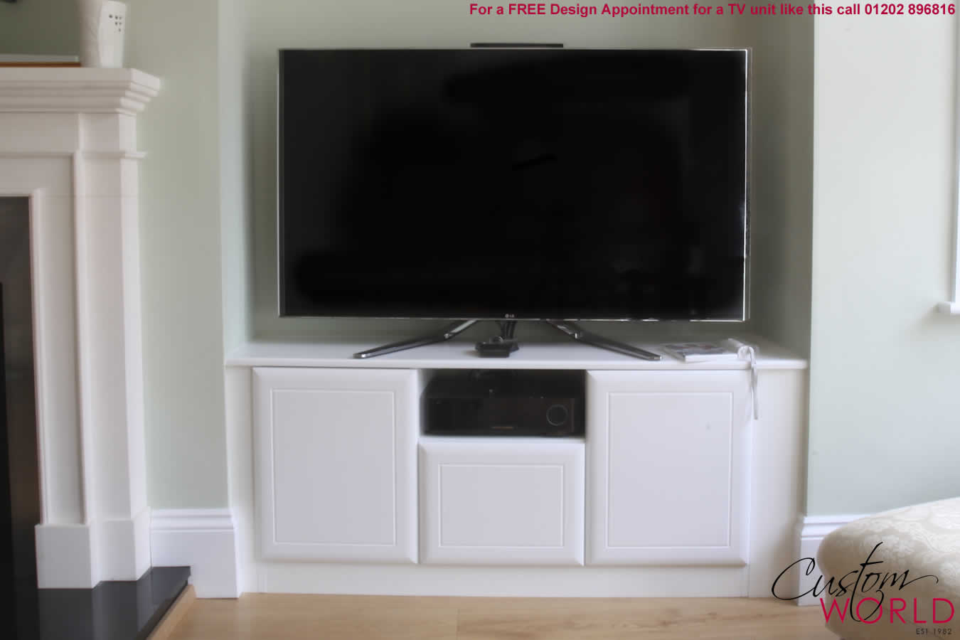 Fitted in home cinema rooms tv stands and units by custom world - Deco lounge tv ...