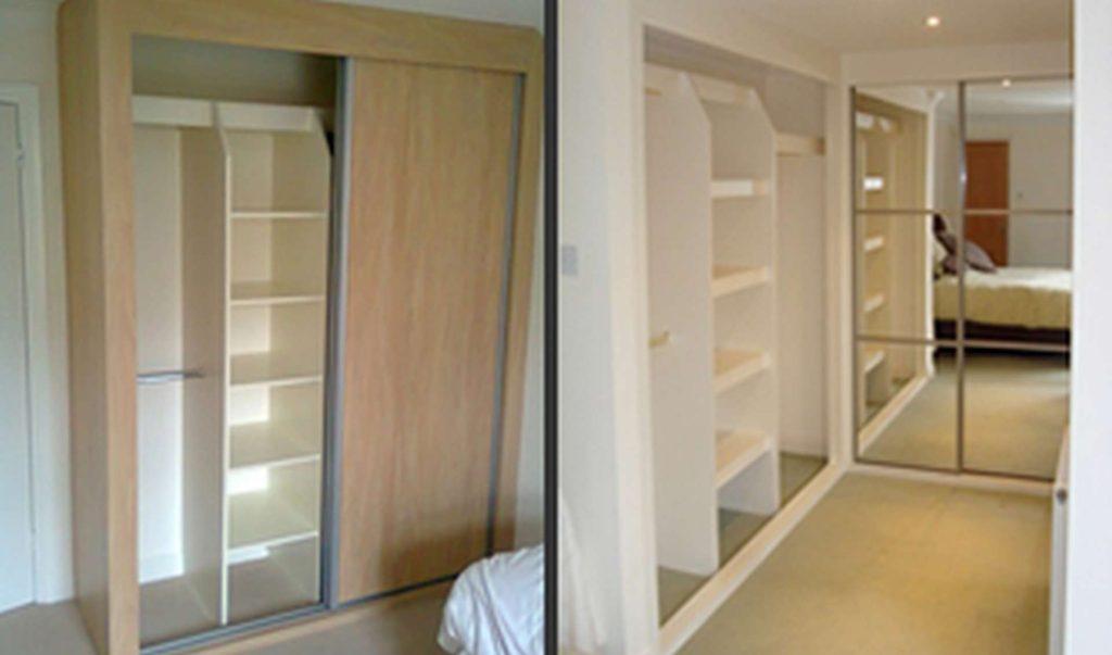 Interior storage options for sliding bedroom wardrobes