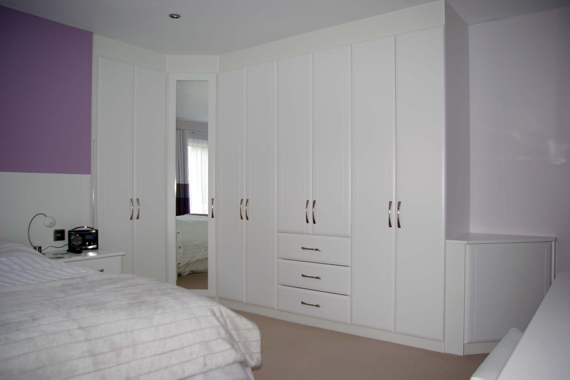 A Modern Classic Style Of Bedroom In Our Contour Range In White Ash.