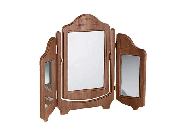 Traditional triple mirror