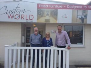 Custom World £250 cash prize draw given to Mr & Mrs Whitrick