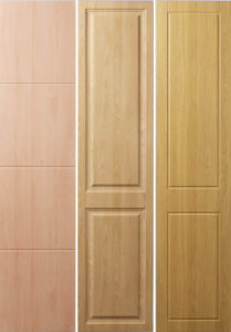 Doors for fitted wardrobes - the Bowland horizontal; Shaker