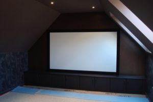 In Home cinema rooms fitted bespoke design