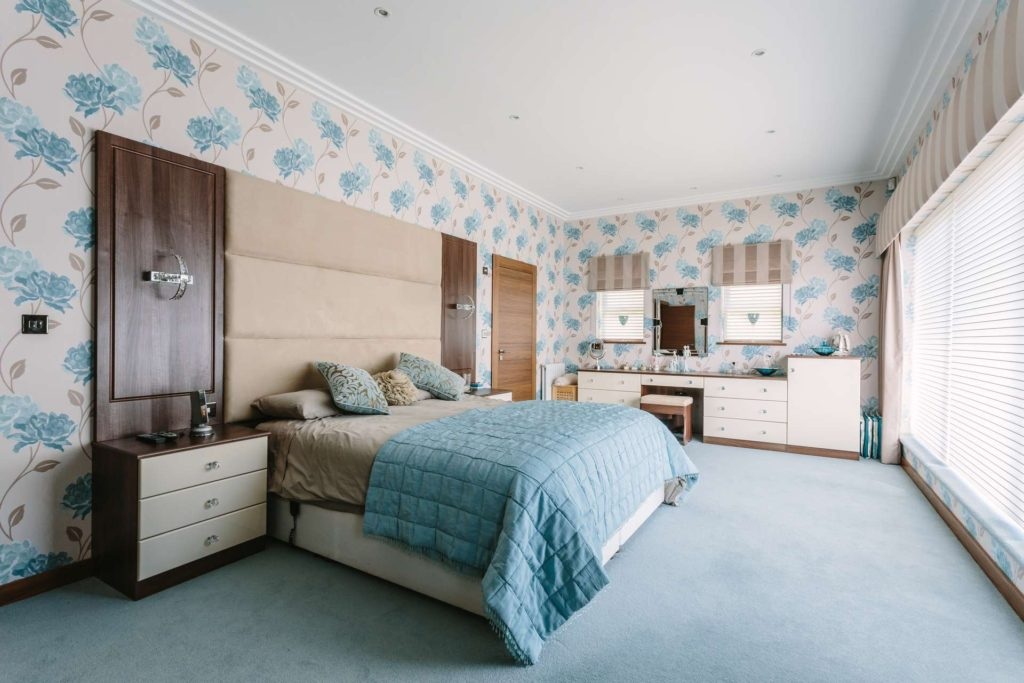 Fitted bedroom and headboard