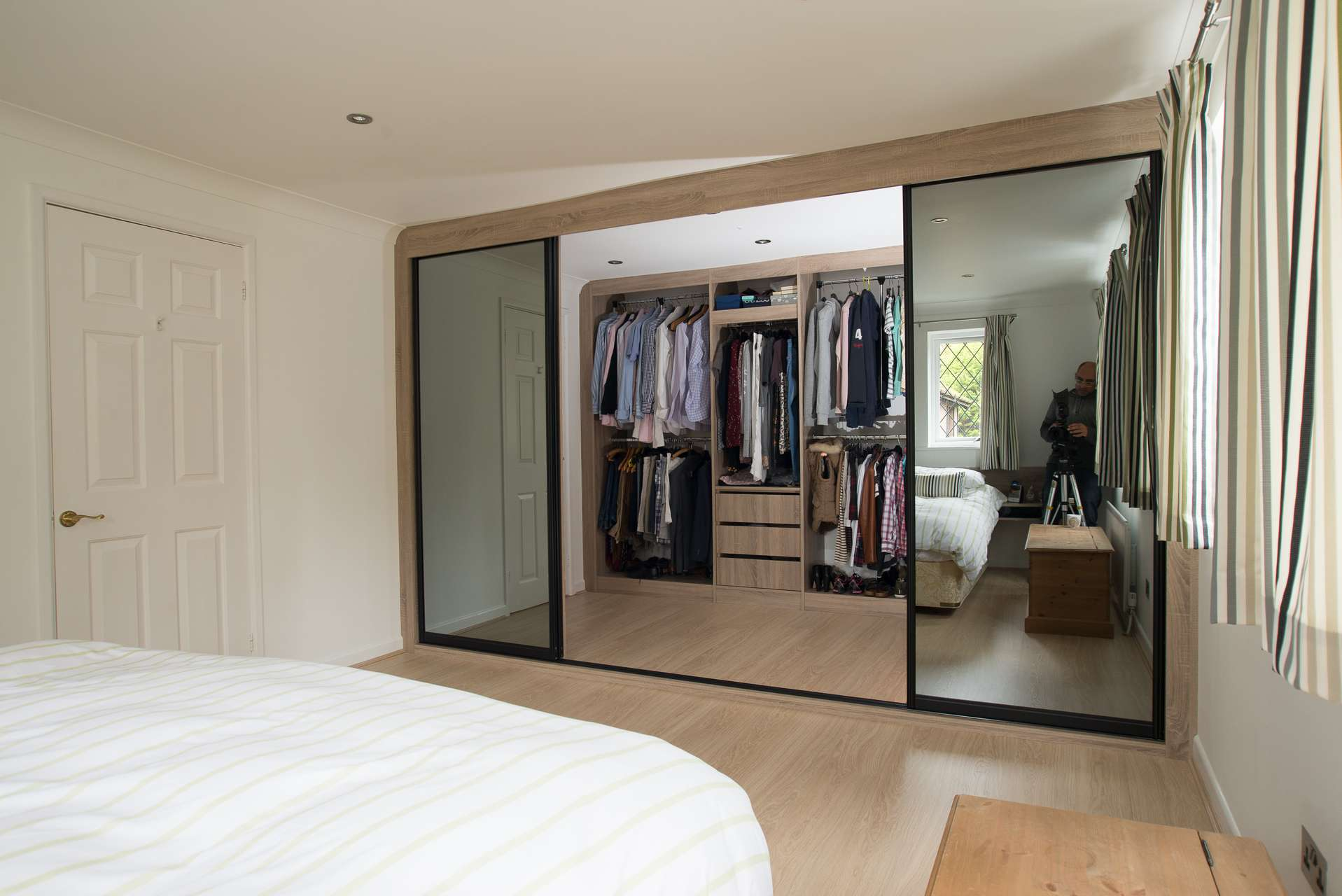 Sliding Door Walk in Wardrobe - Middle doors open