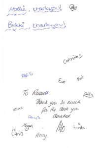 Thank you from West Mores Youth Club