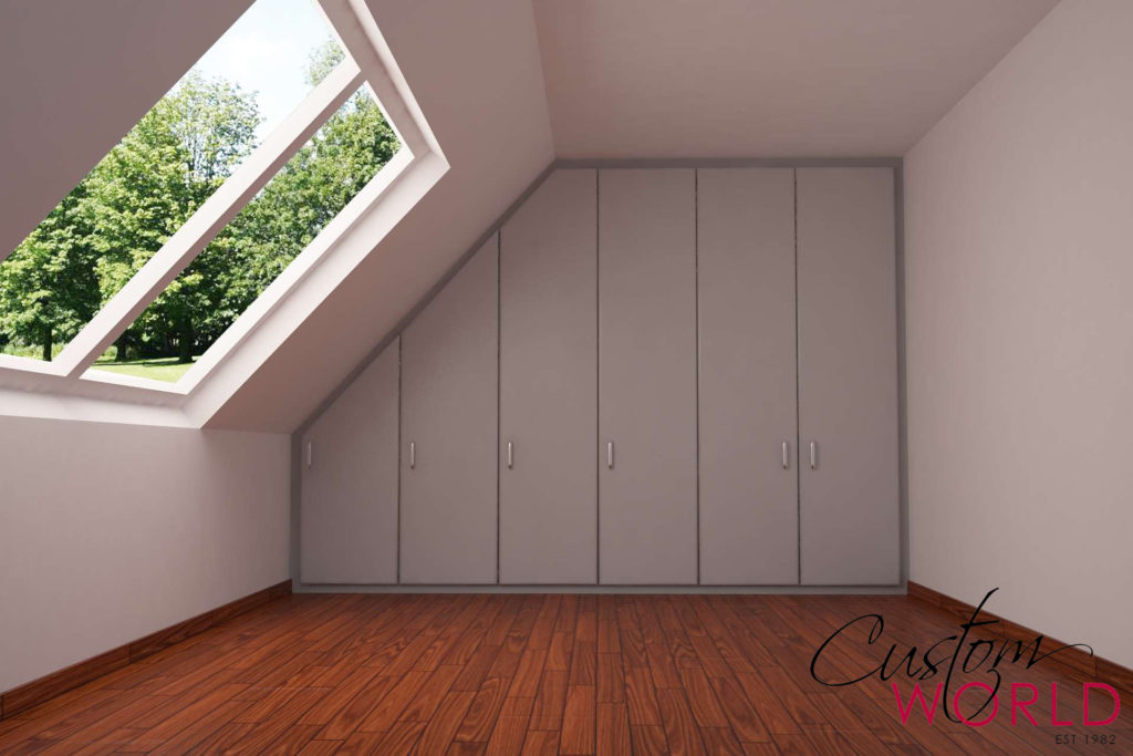 Fitted furniture always gives you more storage space over freestanding