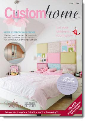 Custom World Bedrooms brochure 'Custom Home'