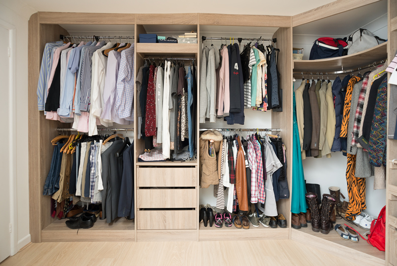 Walk in wardrobe interiors