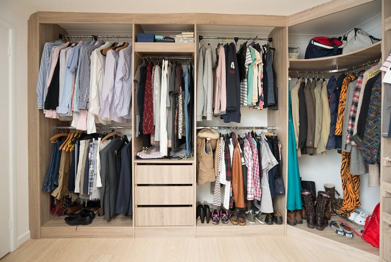 Walk in wardrobe interiors