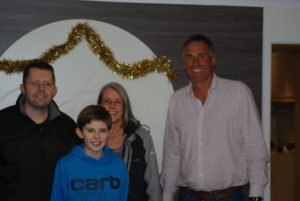 The Fudge Family with Russell Bowyer after winning £250 cash