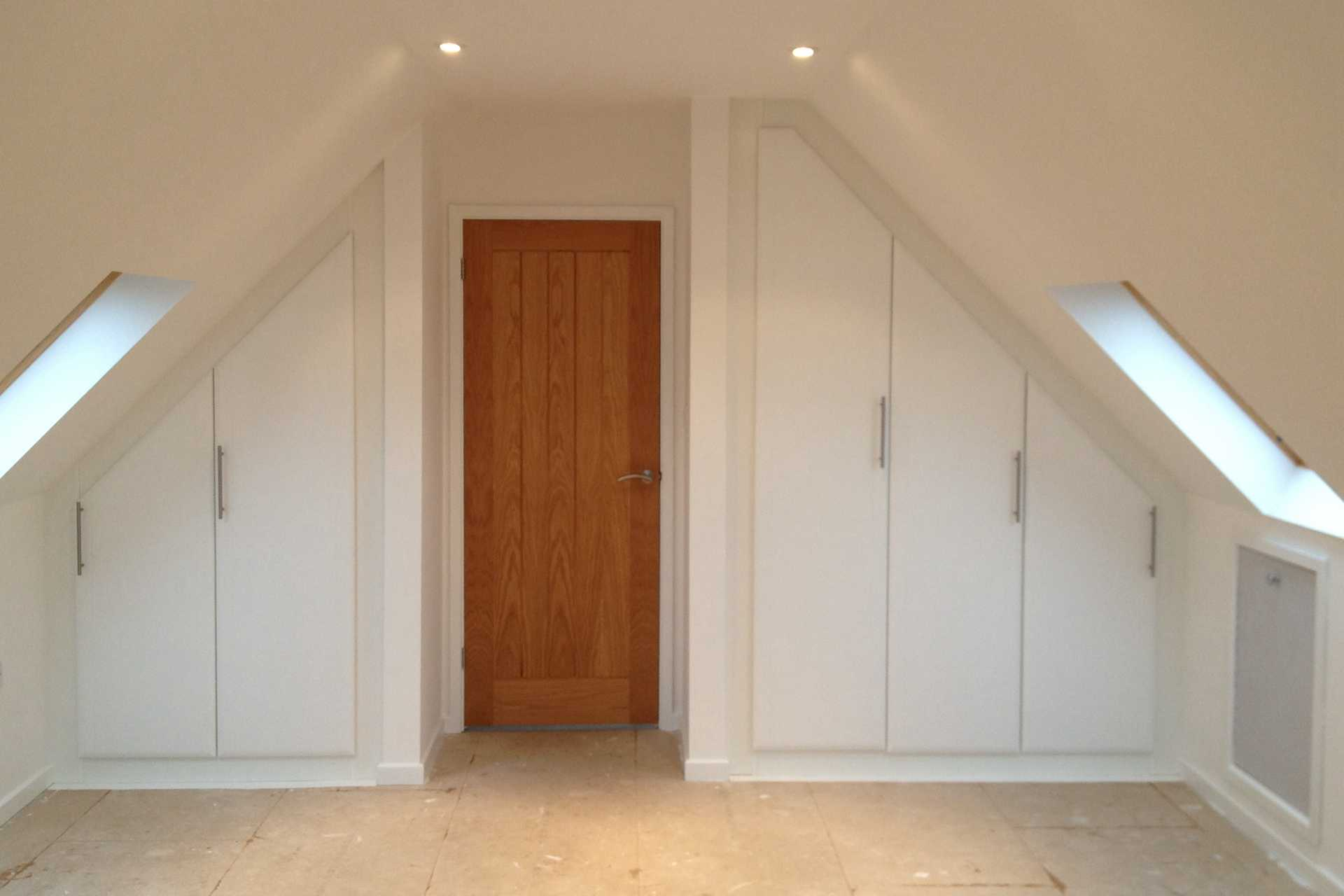 Converted loft spaces through to built in under-stairs cupboards