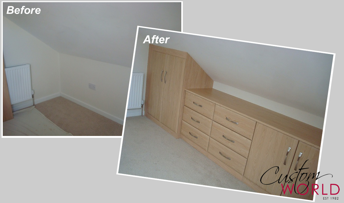 The space experts before and after fitted cupboards. Figure 2.